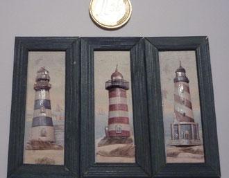 Faros 3 láminas 12€ cada cuadro.Se venden por separado.