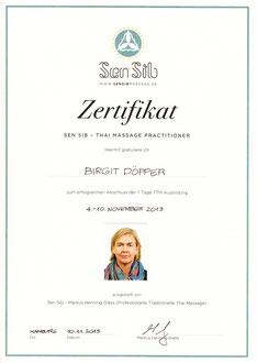 """Thai Massage Practitioner I, vom 04.11. bis 10.11.2013 bei Markus Henning Giess/sen sib, im """"Raum für Meditation und Bewegung"""","""