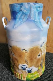 Zu verkaufen / Milchkanne Airbrush / Für im Innen - oder Aussenbereich