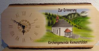 Kundenauftrag Airbrush Holzuhr