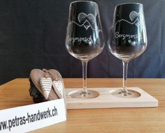 Weingläser graviert