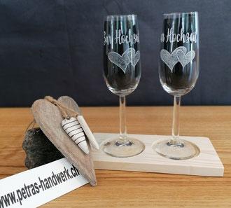 Glasgravur / Gravierte Sektgläser Zur Hochzeit