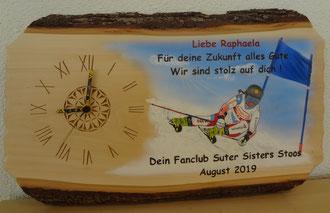 Brandmalen Holzuhr / Für Raphaela :)