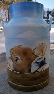 Zu verkaufen / Milchkanne Airbrush / Für im Innen- oder Aussenbereich