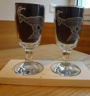 Kaffeegläser graviert / Jägergeschenk