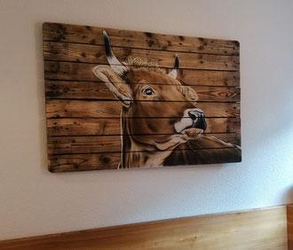 Wandbild Holz 120 x 80 cm