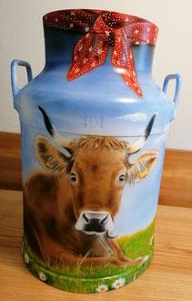 Milchkanne Airbrush zu verkaufen