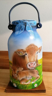 Milchkannne bemalen Limousin