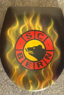 Kundenauftrag SC Bern WC Deckel