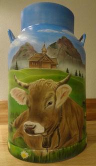 Milchkanne  bemalen Stoos