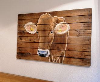 Wandbild auf Holz / Airbrush / 120 x 80 cm