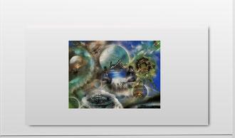 Acryl Malerie - Spray Paint ART auf Leinwand