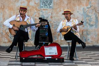 Straßenmusikanten in Taormina