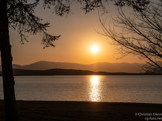 Abends am Ebro Stausee