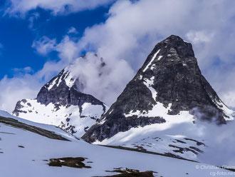 Norwegen,  Romsdahler Alpen, vor Abstieg Trollstigen,  03.06.2017
