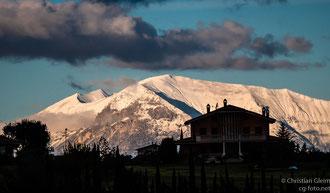 Zwischenstop bei dem Winzer Familie  Rasicci unweit der Monte Sibilla