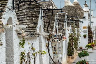 Trullihäuser in Alberobello auf der Rückreise