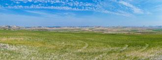 Blick auf die Halbwüste Bardenas Reales im Süden von Navarra