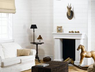 Lambris Sapin Blanc - Wax du Nord (Pose murale Horizontale)