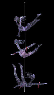 Fanny Squadron 2. 2004. Wire mesh, aluminium, plastic. 300 x 130 x 130cm. © Charles Rocco