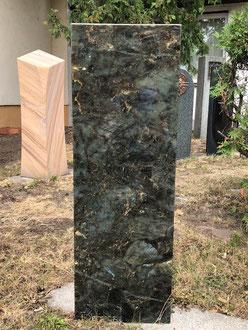 Grabmal / Grabstein / Stele Lemurian blue 30 x 15 x 80 cm