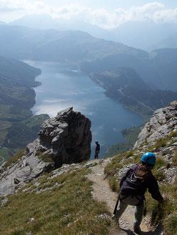 Vue sur le lac de Roselend