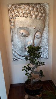 Bonsai mit Buddha