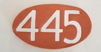 Plaque 3 numéros émaillé blanc sans motif