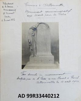 ALLONVILLE (Maquette A. FOSSE ;  Archives dép. de la Somme)