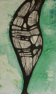 ohne Titel | 2014 | Mischtechnik | 35 x 17,1 cm | Privatbesitz