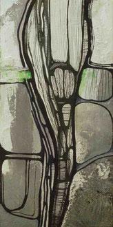 Who is afraid of grey, gray and grau? | 2013 | Mischtechnik |  35 x 17, 5 cm | Privatbesitz
