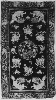 Tapis de laine, Chine, XVIIe siècle.  Collection Langweil.