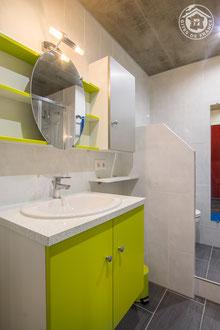 La salle de bain équipée