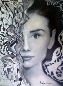 «Audrey Hepburn» acrílico sobre papel - 70 x 50 cm - 2014