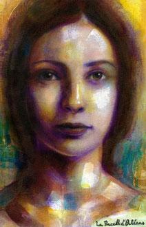 «Juana de Arco» técnica mixta sobre lienzo - 30 x 40 cm - 2015