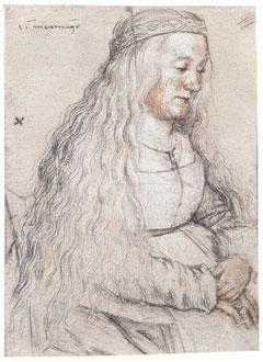 Porträt einer sitzenden Frau