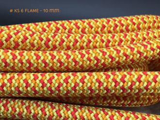 10 mm Kletterseil Orange+Rot+Gelb