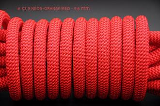 9,6 mm Kletterseil Neon-Orange/Red