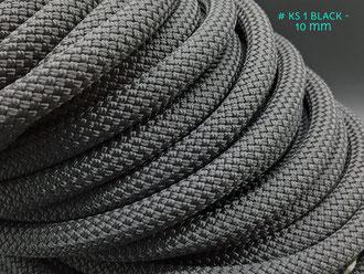 10 mm Kletterseil Schwarz