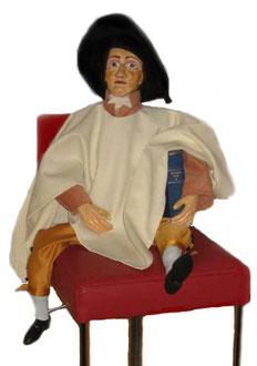 Goethe auf einem Barhocker von Maria C. in Weimar