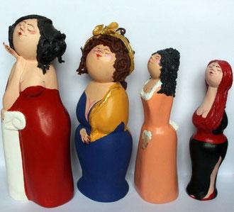 Papiermache-Figur: Weibliche Figurentypen