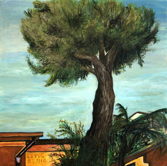 FIRENZE, VIA BRONZINO  Acryl auf Leinwand - 40 x 40 cm