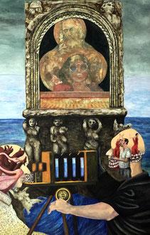 TARANTO LES SAINTES MARIES Acryl auf Spanplatte - 138 x97 cm