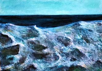 CORNISH SEA Acryl auf Karton - 17 x 24 cm