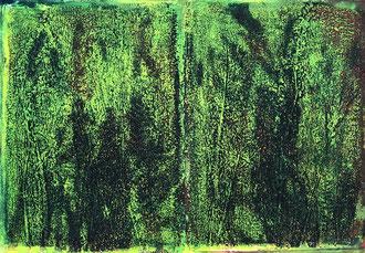 WINGS-BE BOP LINK Monotypie auf Papier - 36 x 48 cm
