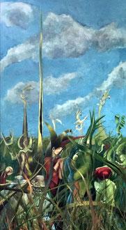 SREDNI OKRES OBSERWACJI Acryl auf Leinwand - 76 x 42 cm