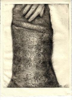 ETOFFE Kaltnadelradierung auf Papier - 19,7 x 24,7 cm