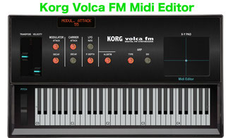 Korg Volca FM Editor - Korg Volca FM Editor Controller
