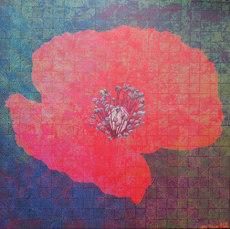 Klatschmohn, 100 x 100 cm,  Acryl auf Leinwand (Kkeul Malerei)----------- 양귀비, 100 x 100 cm, 캔버스에 아크릴(끌 말러라이)