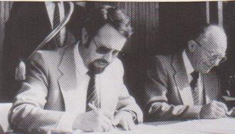 Am 30. August 1980 wurden die Partnerschaftsurkunden unterschrieben.